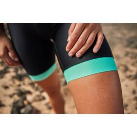 Zone3 Aquaflo+ Trisuit korte mouwen Dames, zwart/turquoise